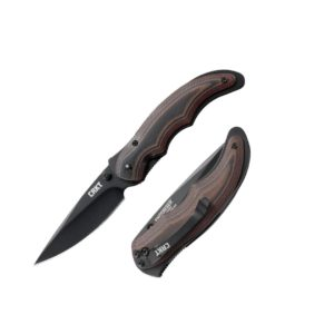 CRKT Endorser Brown/Black G10 Handle, Plain Edge – Black Blade (1105K)