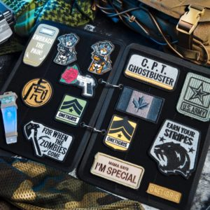 OneTigris MTB03BK Flip-Page Patch Book, Black