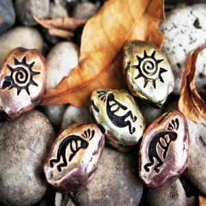 Santi's Beads, Kokopelli, Copper