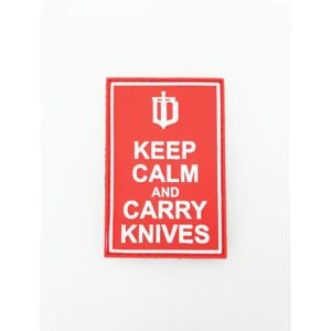 IB Patch 'Keep Calm and Carry Knives'