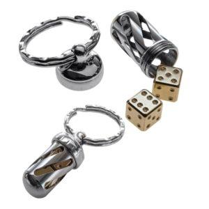 Lion Steel, Acorn Dice Set, Brass