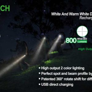 NexTorch P5W Dual Light, max 800 lumen, White & Warm White Light