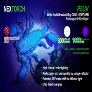 NexTorch P5UV 365, Dual Light, max 800 lumen white, max 200 lumen,UV