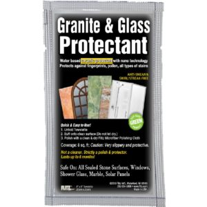 Flitz Granite & Glass Protectant, SingleTowelette
