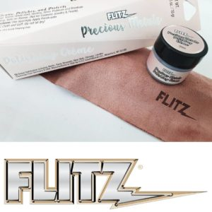 Flitz Precious Metal Polishing Cream 10gr Plastic Jar with FREE Microfiber Cloth Set