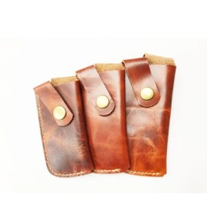 Strong Cow, Leather Pouch, Button, Small/Large/Medium