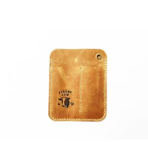 Strong Cow, Leather Pocket Caddy with pocket 5.5/4.5cm, with logo