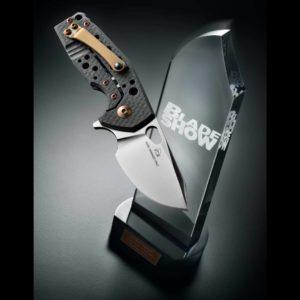 Fox Knives, Fox/Vox Suru Fold. KN. Carbon Fiber HNDL-M390 Sat. BLD-TIT. Bronze Clip/Screw