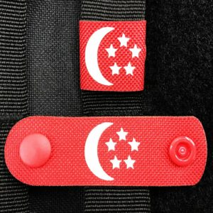 Night Stripes, Red Strap, GITD Singapore Flag, Horizontal