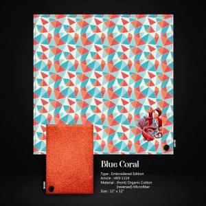 Brotac Hanks, Blue Coral Embroidered Edition