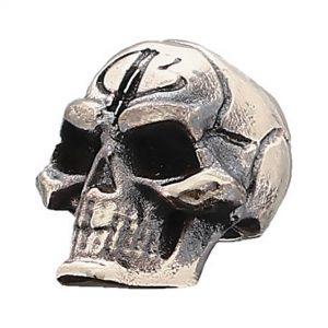 Bastinelli Bead, Custom Small Skull Bronze